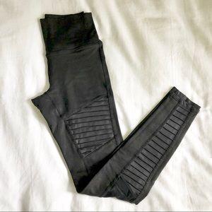Alo high rise moto faux leather finish leggings S